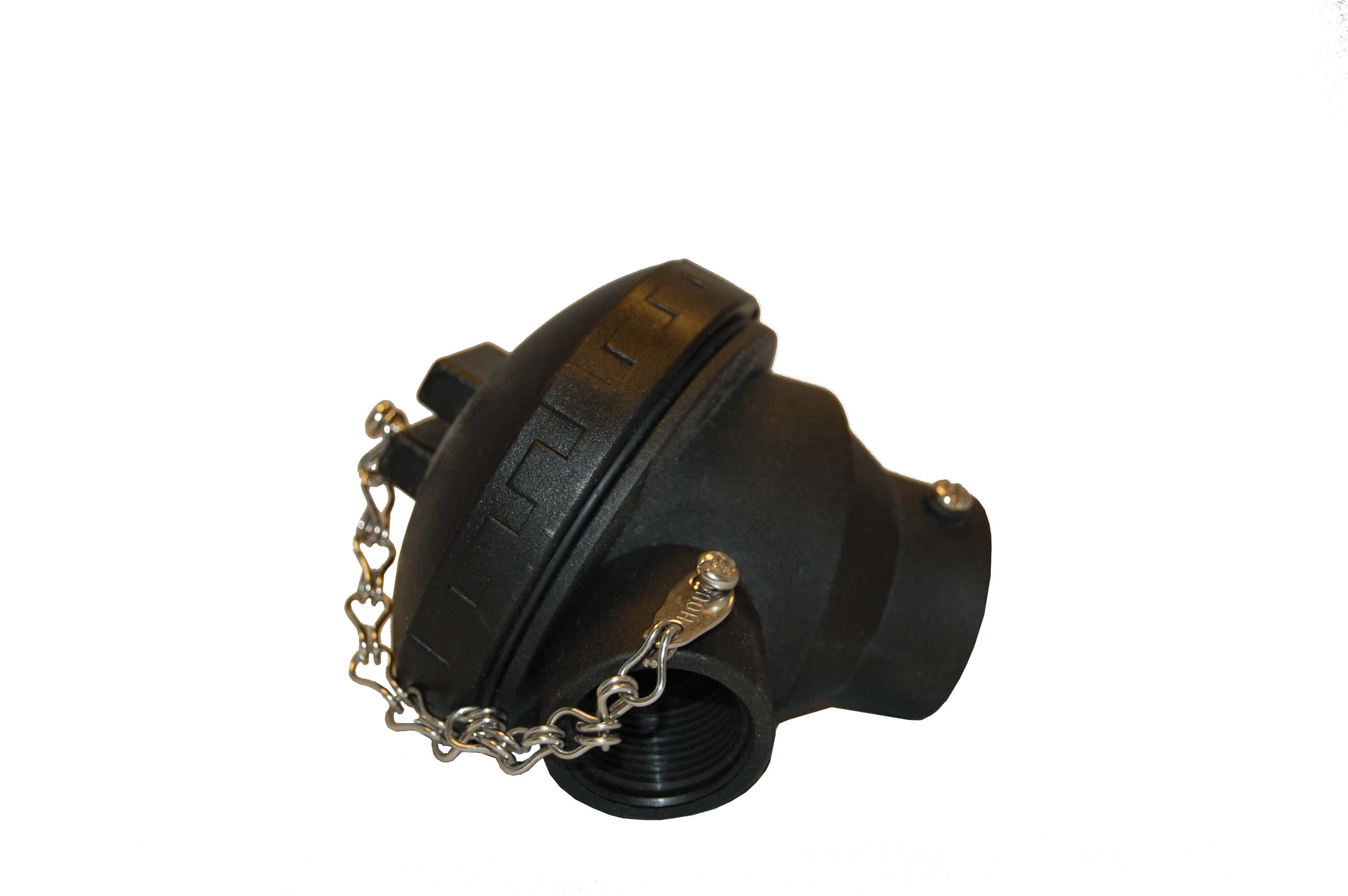 black cap with chain