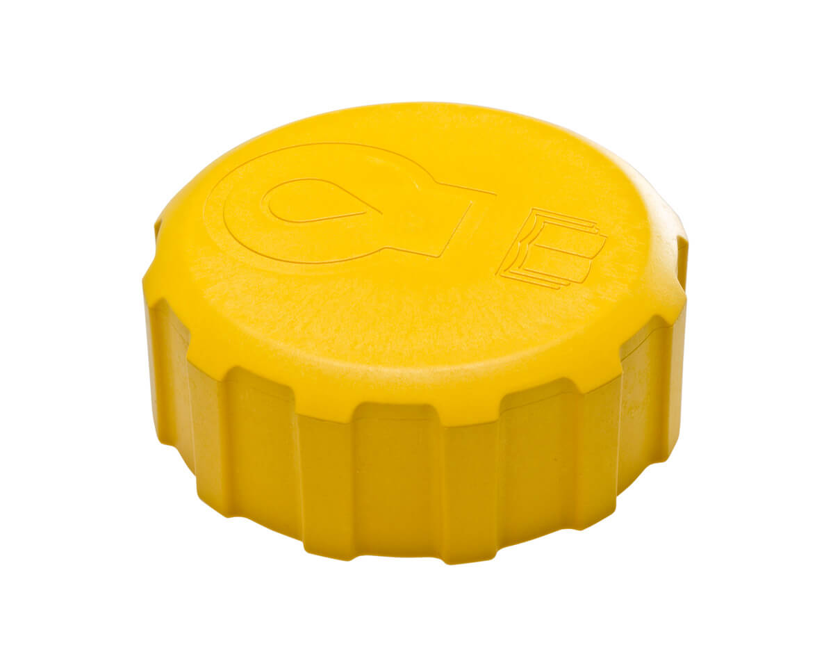 Plastic Injection Molded Yellow Cap get a molding quote today
